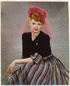 Lucille Ball, 1944 tri-color carbro process print Harry Warnecke for the NY Daily News