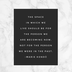 """(@mariekondo) on Instagram: """"You are only getting better over time. Don't let your belongings weigh you down.…"""""""