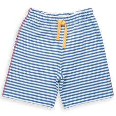 Organic Cotton Baby Boy Jersey Stripy Short -These comfy little jersey shorts are so versatile yet so cute, a must have for this season! With fully elasticated waist contrast details and back pocket they fall just below the knee. Made from organic cotton because it's good for the farmer, good for the planet and good for you.  Made in Turkey from 100% organic cotton. Fair Trade - Solne Eco Department Store