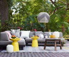 Zubehör outdoor- sitzbereich teppich kissen beistelltische west elm