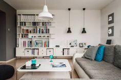 white & gray apartment interior