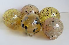 Decorative Glass Balls For Bowls Speckled Floats Set Of Four 2535 Decorative  Floatsavalon