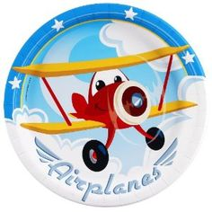 Airplane Adventure Dinner Plates (8) Party Supplies