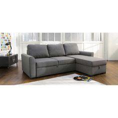 Canapé d'angle 3/4 places convertible gris MONTRÉAL 549,90€     -   H 88xL 238xP160cm