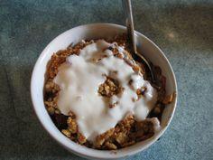 GF Berry Crumble with Vanilla Yogurt