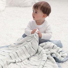 Aden + Anais Moonlight Bead + Solid Grey Silky Soft Dream Blankets - Lolli Bean's