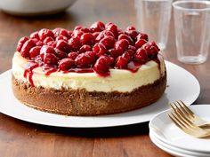 Raspberry Cheesecake recipe from Ina Garten via Food Network