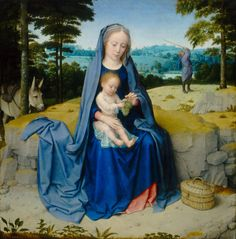 gerard david the rest on the flight into egypt painting