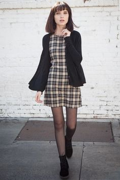 laid back casual women's style tartan and block - perfect for autum, fall