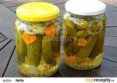 Kukuřičky ve sladkokyselém nálevu 20 Min, Pickles, Cucumber, Mason Jars, Canning, Food, Ds, Essen, Pickle