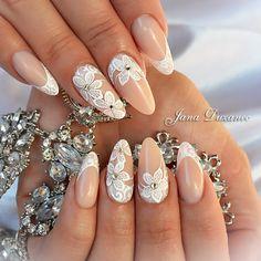 "896 Likes, 13 Comments - Jana Duzanec (@janaduzanec_jananails) on Instagram: ""Wedding nails #jana #janaduzanec #janaduzanec_jananails #jngel #jnpasta#jananails #weddingnails…"""
