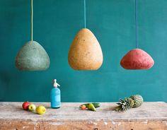 Crea-Re, Papier Mâché lamp collection, TREND-SPOTTING! SELECTED STORIES ON DESIGN
