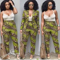 African pant suit