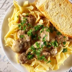 Beef Stroganoff made in an Instant Pot (electric pressure cooker)