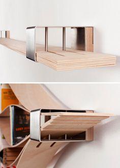 flexible shelf metal endpiece