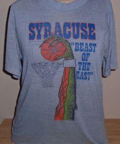 79bbd30f vintage 1980s Syracuse Orangemen basketball t shirt THIN soft Medium by  vintagerhino247 on Etsy Syracuse Orangemen