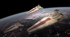 Republic cruisers above Coruscant