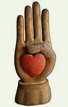 Heart in Hand Carving from an Odd Fellows Fraternal Lodge.