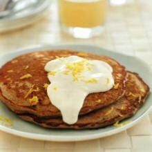 Buckwheat Pancakes With Lemon Cream Recipe | Easy Diabetic Breakfast