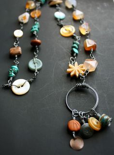 Laughter Falls Necklace by CraftyHope - love the colors and textures of this necklace!