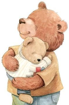 Teddy Bears Dad and Son Tatty Teddy, Nici Teddy, Animal Drawings, Cute Drawings, Baby Animals, Cute Animals, Teddy Bear Pictures, Bear Illustration, Cute Clipart