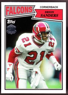 ATLANTA HAWKS 2015 TOPPS 60TH ANNIVERSARY DEION SANDERS NMMT CONDITION FREE  SHIP  AtlantaFalcons 8ed04a7dd