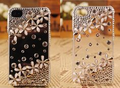 Superior Transparent Crystal Flowers Case for iPhone 5 5s 5c 4 4s