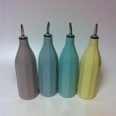 One Modern Oil Decanter/ Ceramic Oil Pourer/ Pottery Cruet/ Soap Dispenser. Handmade Kitchen Gift Idea. Housewarming. Slip Cast Porcelain