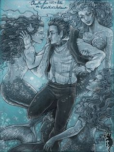 Hook: PeterPan and Mermaids by RerinKin on deviantART