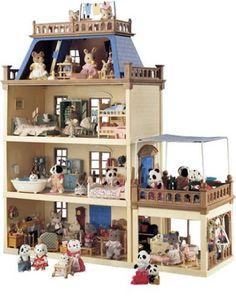 Sylvanian Families Mansion.I used to love sylvanian families, I had 1 family, that was it. But my friend had the mansion!! Loved it