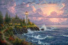 Light of Faith by Abraham Hunter - http://www.parsonsthomaskinkadegallery.com/light-of-faith-by-abraham-hunter/