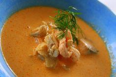 Soppa med lax torsk och skaldjur | Jennys Matblogg