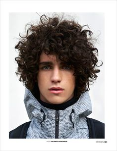 Fashion photographer Kimber Capriotti captured Sugar Coated story for MMSCENE Magazine's March 2017 edition featuring the handsome Guy Patrick. Boys With Curly Hair, Curly Hair Cuts, Long Curly Hair Men, Rock Star Hair, Hair And Beard Styles, Long Hair Styles, Wavy Curls, Awesome Beards, Men Styles