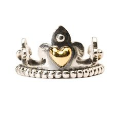 """Crown With Gold - """"A crown of gold and silver, worthy of any prince or princess."""" #trollbeads"""