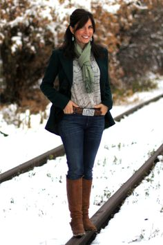 "Mrs. American Made - First snow - winter outfit - #MadeinUSA Outfit details: ""Squire""..."