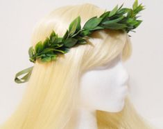 Green Leaf Crown for a Greek, Roman Goddess, Laurel Wreath, Headpiece, Grecian, Athena, Toga, Leaf Hair Garland, Greek God, Man, Woman, Girl