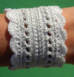 Ravelry: Girly Girl Crocheted Cuff pattern by Judith Baker