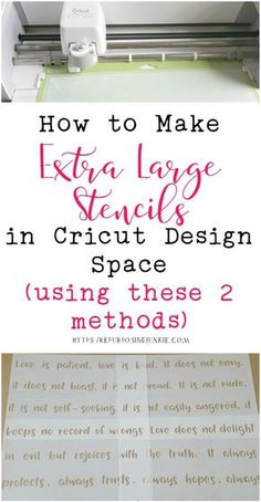 How to Make Extra Large Oversized Stencils in Cricut Design Space Meeting and Overlapping Methods