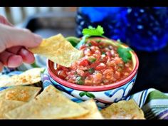 Roasted Tomato Salsa + Baked Tortilla Chips