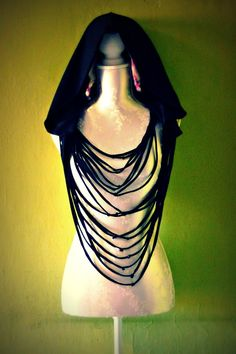 DIY Goth Ninja Hooded Scarf by Artemisya on Etsy, €30.00