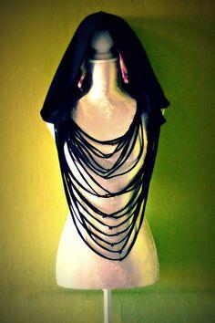 DIY Goth Ninja Hooded Scarf by Artemisya on Etsy, €30.00
