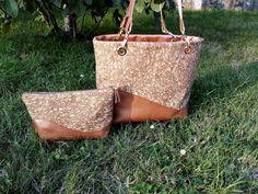 Sac Samba en liège à paillettes et simili cuir cousu par Nadeige - Patron Sacôtin