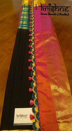 Saree Tassels Designs, Saree Kuchu Designs, Fancy Blouse Designs, Bridal Blouse Designs, Saree Border, Saree Models, Elegant Saree, Saree Dress, Half Saree