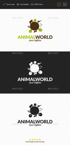 Animal World Logo — Vector EPS #african #photography • Available here → https://graphicriver.net/item/animal-world-logo/11788956?ref=pxcr