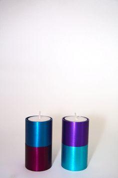 Carmel Gifts - Shabbat Candlesticks Domino Rainbow Collection , $49.00 (http://www.carmelgiftshop.com/judaica-and-jewish-holidays/shabbat-candlesticks-domino-rainbow-collection/)