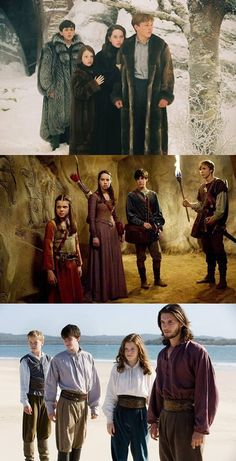 Narnia  Lucy's clothes in the third picture look so comfortable!!