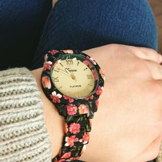 New watch:) floral!