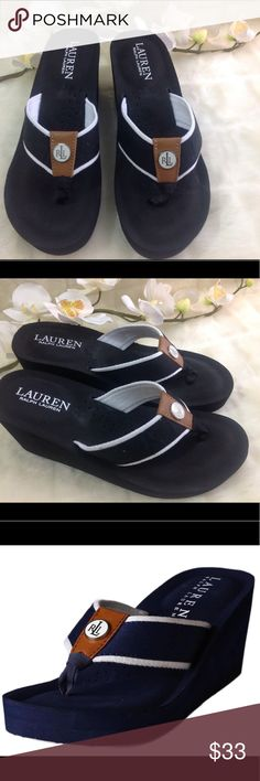 Polo Ralph Lauren Jane Sandal Black/Wht 7 Like New Polo Ralph Lauren Jane Sandal Black/Wht 7 Like New. Wore them once indoors! Sells on Amazon for $50! No trade no emails/txt/calls Polo by Ralph Lauren Shoes Sandals