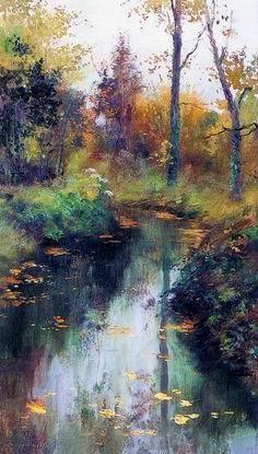 """ by Sergei Toutounov. Pastel Landscape, Watercolor Landscape, Landscape Art, Landscape Paintings, Watercolor Paintings, Landscapes, Paintings I Love, Beautiful Paintings, Pics Art"