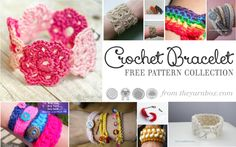 Crocheted jewelry is fun to wear and make! You're sure to love all these bracelets in this collection.